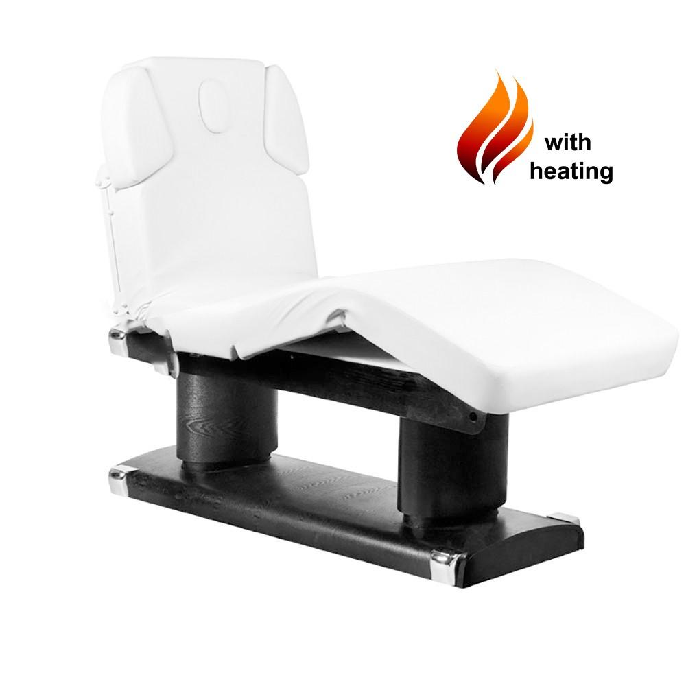 053838H Massageliege Schwarz / Weiß mit 4 Motoren & Heizung