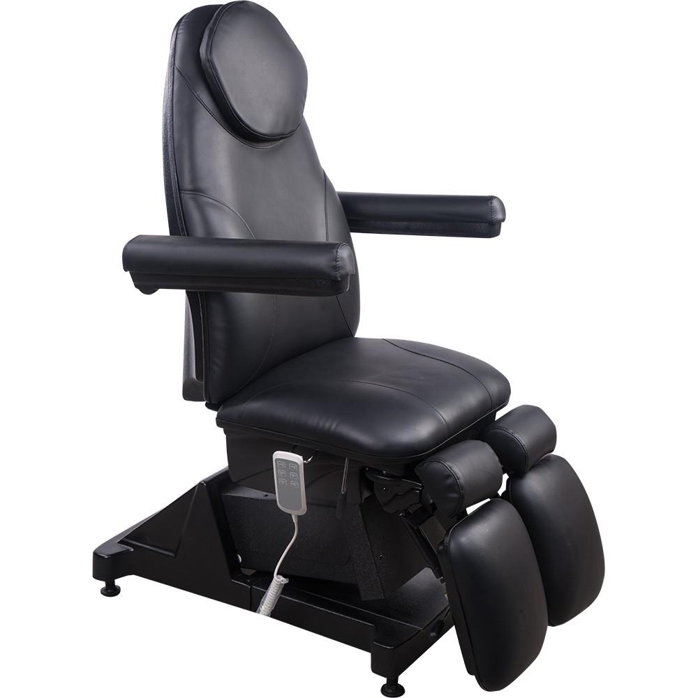 1252156 Fußpflegestuhl schwarz mit 3 Motoren