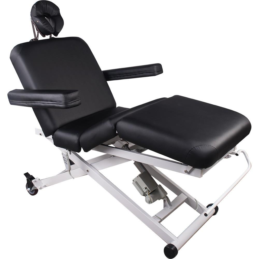 153336 Vollelektrische Behandlungs- Massageliege mit 3 Motoren schwarz