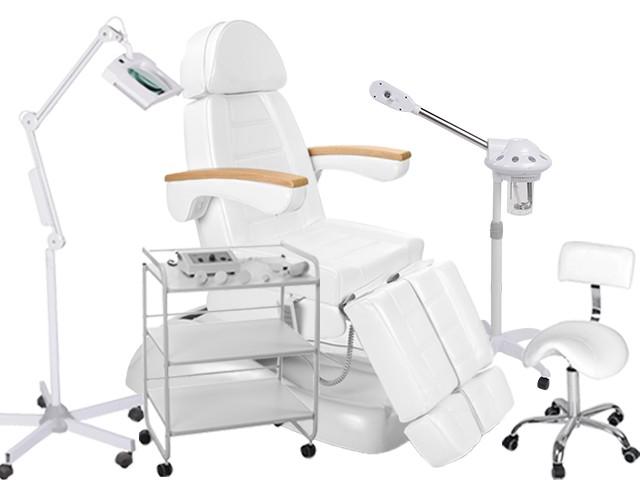 920273 Fußpflegekabine (Fußpflegestuhl Bedampfer Lupenlampe Beistelltisch Arbeitsstuhl Bürstenschleifgerät)