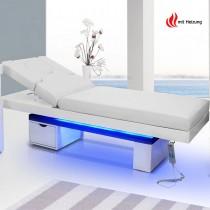 Elektrische Massageliege Wellnessliege 003815H weiss mit Heizung