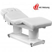 003838H Massageliege Weiß mit 4 Motoren & Heizung
