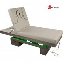 023815H Elektrische Massageliege Wellnessliege grau mit LED und Heizung
