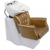 Friseurwaschsessel 250183 weiß / gold