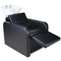 255577 Rückwärtswaschsessel mit elektrisch ausklappbare Fußstütze