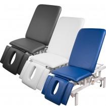 vollelektrische Behandlungsliege 008273 weiß, blau, grau