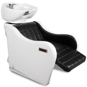 Friseurwaschsessel 252259 schwarz / weiß