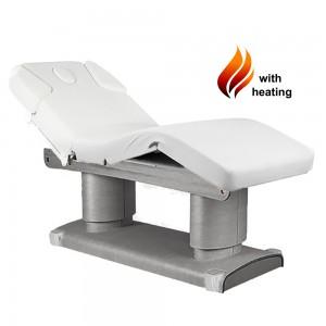 023838H Massageliege Grau / Weiß mit 4 Motoren & Heizung